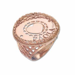 Anello personalizzato con nome in argento mod. AG12AN06