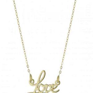 Collana in Argento con scritta Love mod. AG1PE91