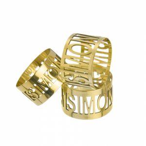 Anello personalizzato con nome in argento 925 mod. AG4TD02