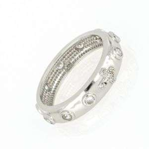 Anello rosario in argento con zirconi bianchi mod. AN30041051