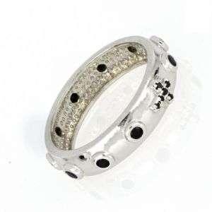 Anello rosario in argento con zirconi neri mod. AN30141051