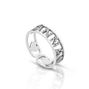 Anello personalizzato con nome in argento 925 (max 5 lettere) mod.AG6AN04