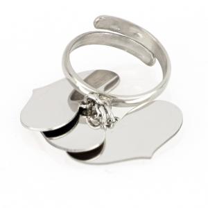 Anello donna con tre cuori pendenti in argento 925 mod. AN3CUORIRO