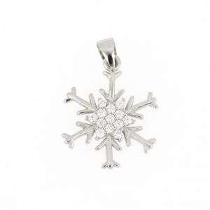 """Ciondolo in argento 925 a forma di """"Fiocco Di Neve"""" mod. CL1680"""