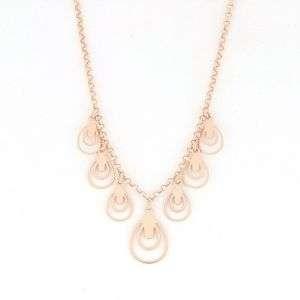 Collana donna in argento 925 rosato con pendenti mod. CL21646