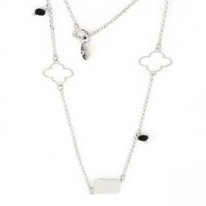 Collana donna in argento 925 con charms a forma di quadrifoglio mod. CL21973.N