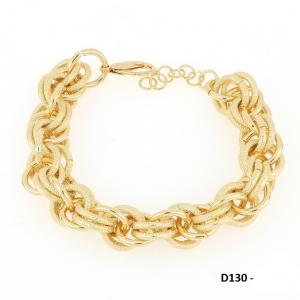 Bracciale donna in acciaio dorato mod. D130