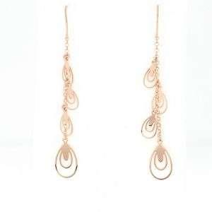 Orecchini pendenti in argento 925 rosato mod. OR21646