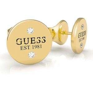 Orecchini Guess in acciaio con punti luce colore oro mod. UBE79049