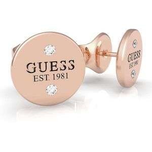 Orecchini Guess in acciaio con punti luce colore oro rosa mod. UBE79050