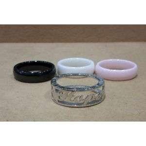 Anello personalizzato in argento 925 con ceramica intercambiabile in tre colori mod. ANCERAM