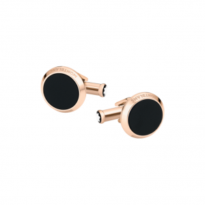 Gemelli Montblanc Meisterstuck in acciaio rose gold e onice mod. 116663