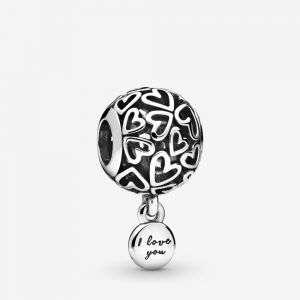 Charm Pandora openwork Cuori d'amore mod. 798606C00